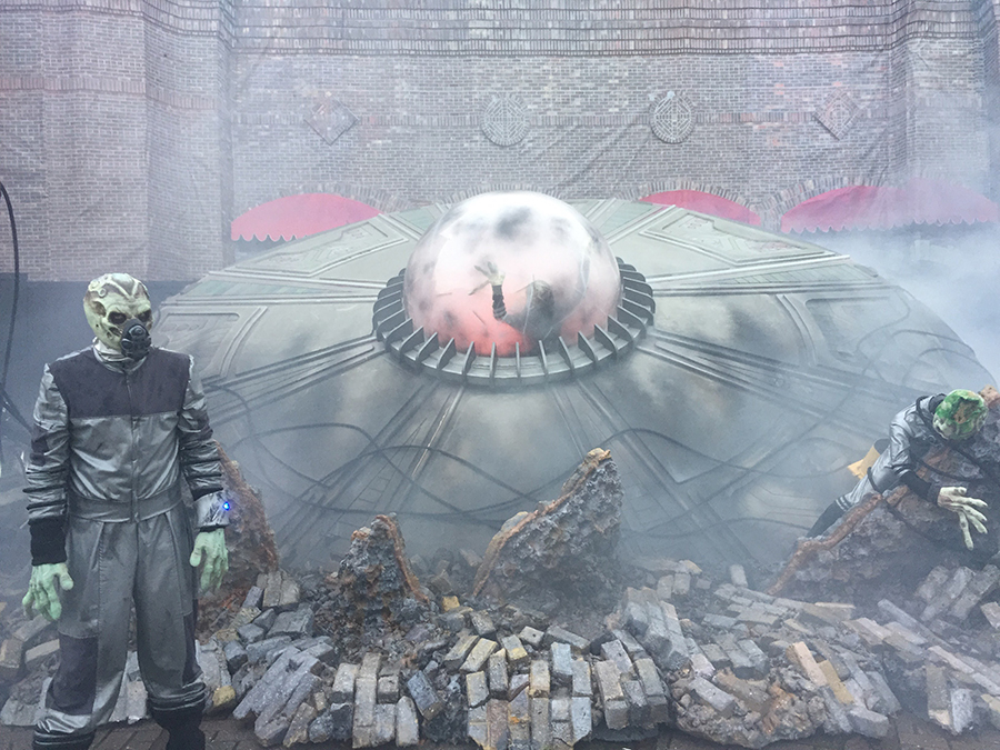 At Universal Studios Orlando on Thursday, Oct. 12 an alien from the