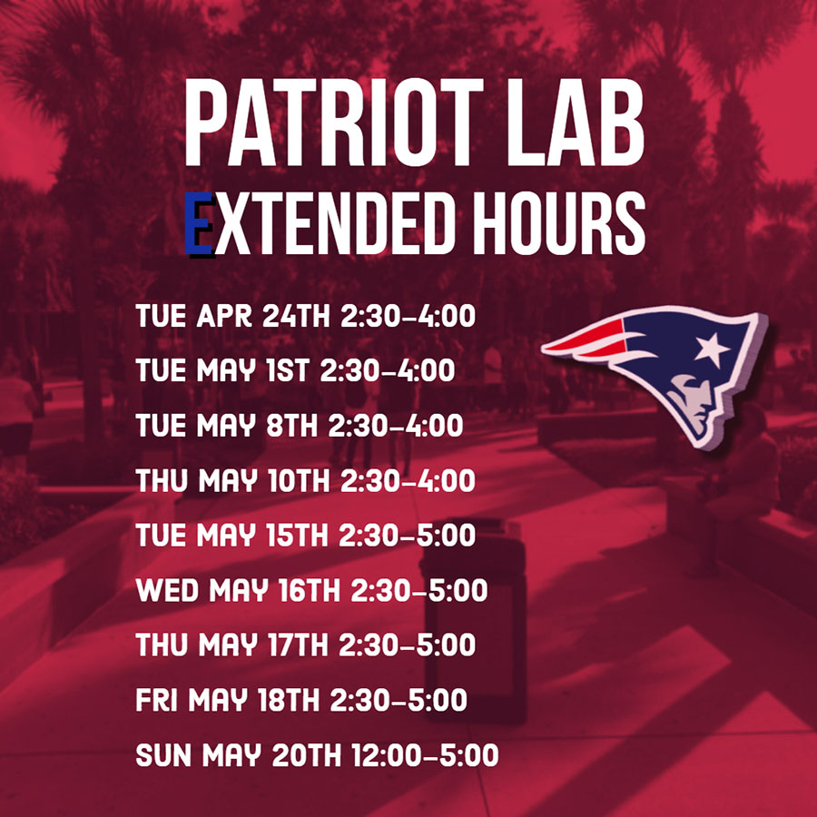 The+Patriot+Lab+is+open+for+after+school+internet+access+on+certain+days+and+times+ranging+from+12+to+5+pm.+Lake+Brantley+wants+to+provide+the+access+to+students+who+need+the+internet.