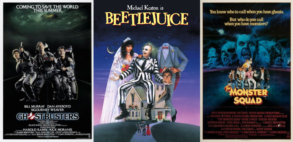 """Ghostbusters"", ""Beetlejuice"", and ""The Monster Squad"" are three must see movies that were produced in the 80s. Each movie has unique qualities, a different style of camera angles, and great soundtracks that allow them to stand as great Halloween movies."