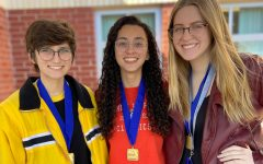 Joelle Wittig, Sabrina Bonadio and Molly Kucharski created a video about Shriners Healthcare for Children, following the prompt of choosing an organization to convince people to donate to. They earned first place in the state level competition.