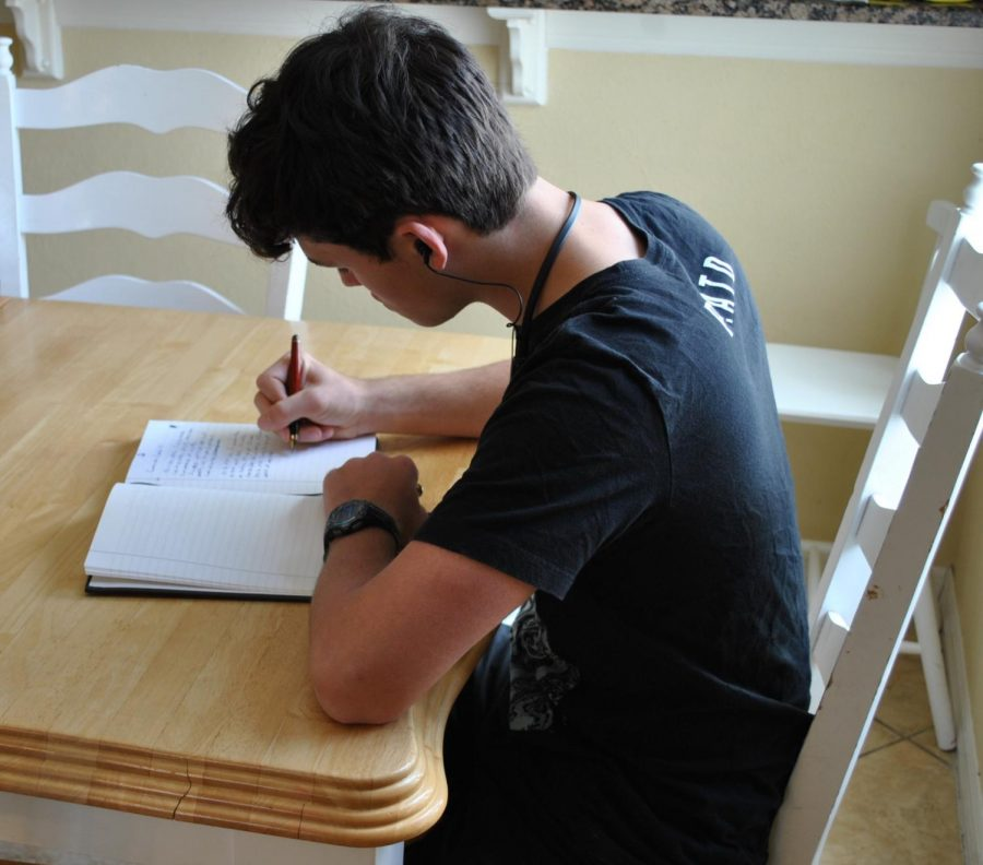 On April 7, senior Ethan Huyck documents his experiences with the COVID-19 pandemic in his journal.