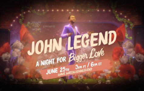 "John Legend's poster for ""A Night For Bigger Love"", his virtual reality live stream concert that took place on June 25."