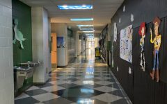 """The class of 2023 participated in the homecoming hallway decorations with their toy story themed hallway in downstairs building 6. The hallway ended up winning 3rd place. """"We drew and traced characters, painted the drawings, measured out space in the hallway, and prepared extra materials"""" Lacarte said. """"It was truly a team effort""""."""