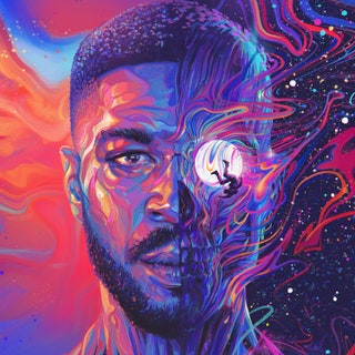 American rapper Kid Cudi's album cover for his third installment of Man on the Moon, released on Dec. 11, 2020.