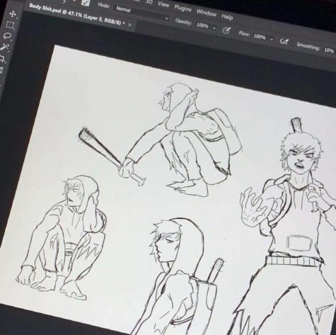 Junior, and third year student of 3D Animation Technology, Kira Klafter shows the process of designing a character. Its a lot of fun to work with all these programs, Klafter said. You learn a lot about what goes into making designs look good.