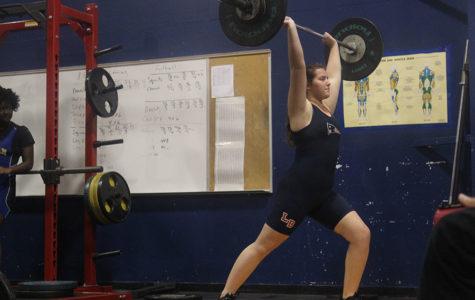 Lake Brantley's first girls weightlifting meet