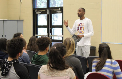 In the community room on Tuesday, Jan. 16 a student speaker from an Orlando church, Church in the Sun, spoke about a devotion. The Anthem Club often invites guest speakers to share knowledge and stories about their relationships with God.