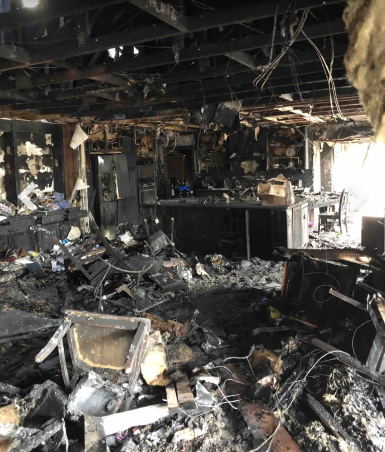 Two days after the Stafford family house caught on fire, the family walked through the home with their insurance company.