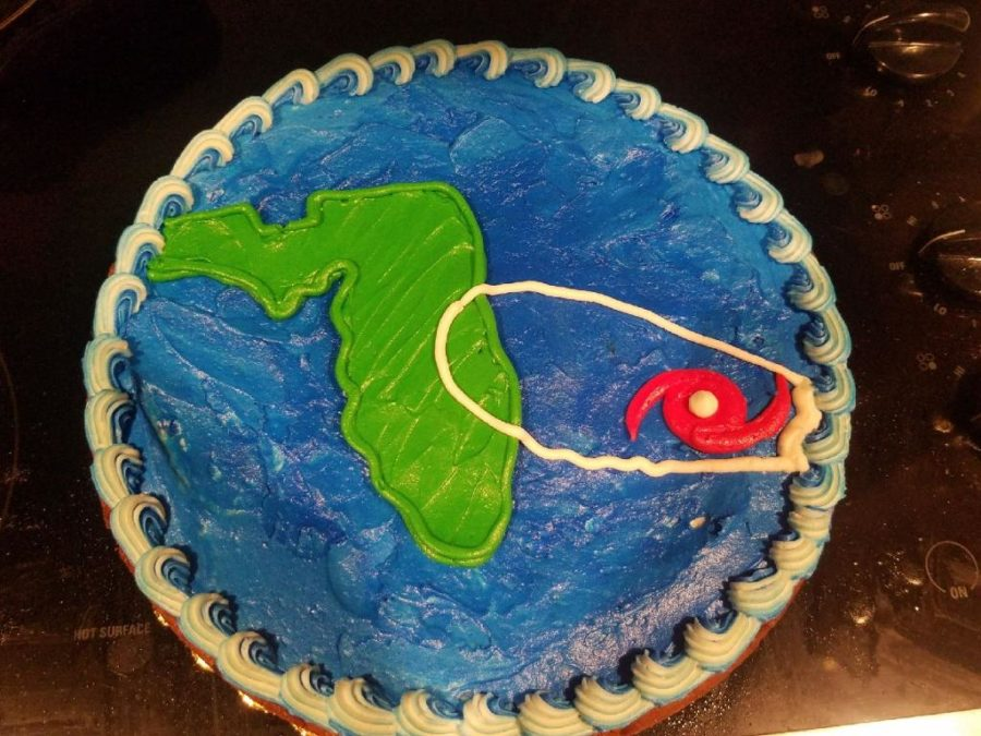 Many students made cakes to celebrate hurricane Dorian which  gave them two days off of school.