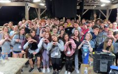 """Students gathered at Camp Wewa, because of English teacher Peggy Leis, showed unity and their love for one another. """"Camp let me be me and talk about how I felt,"""" freshman Chris Gillon said. """"It built a trust between people and I that I never thought would happen."""""""
