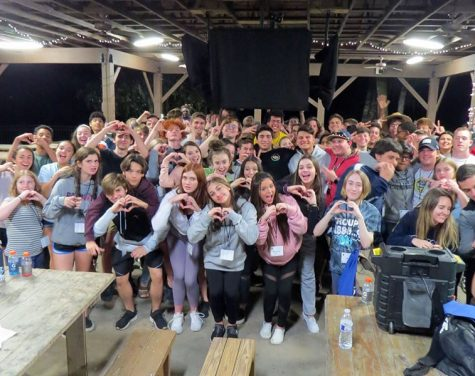 "Students gathered at Camp Wewa, because of English teacher Peggy Leis, showed unity and their love for one another. ""Camp let me be me and talk about how I felt,"" freshman Chris Gillon said. ""It built a trust between people and I that I never thought would happen."""