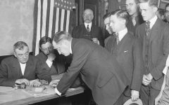 In New York City on June 5, 1917 men lined up to register for the draft. Young men throughout history have been required to register for the draft once they turned 18 years old.