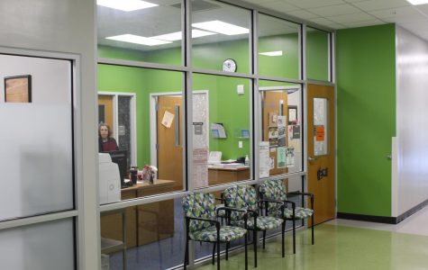 The main guidance office in Building Five, where students must go if they want to modify their assigned class schedules.