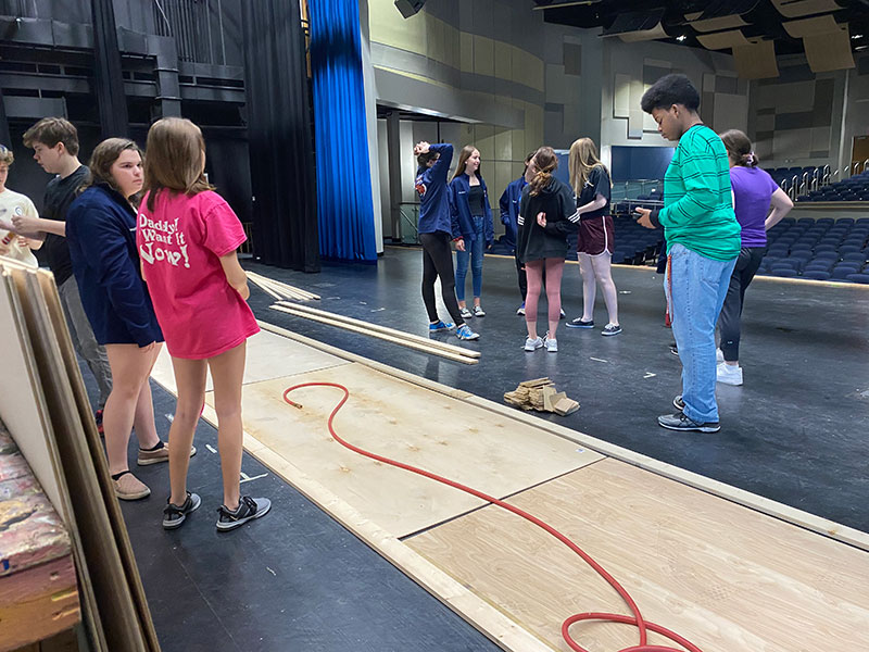 Troupe 2888 members wait around for the major work to start at Chicago's first work day. Sometimes people will be waiting for a job, but then the power tools are brought out and it becomes a fun time for all involved.
