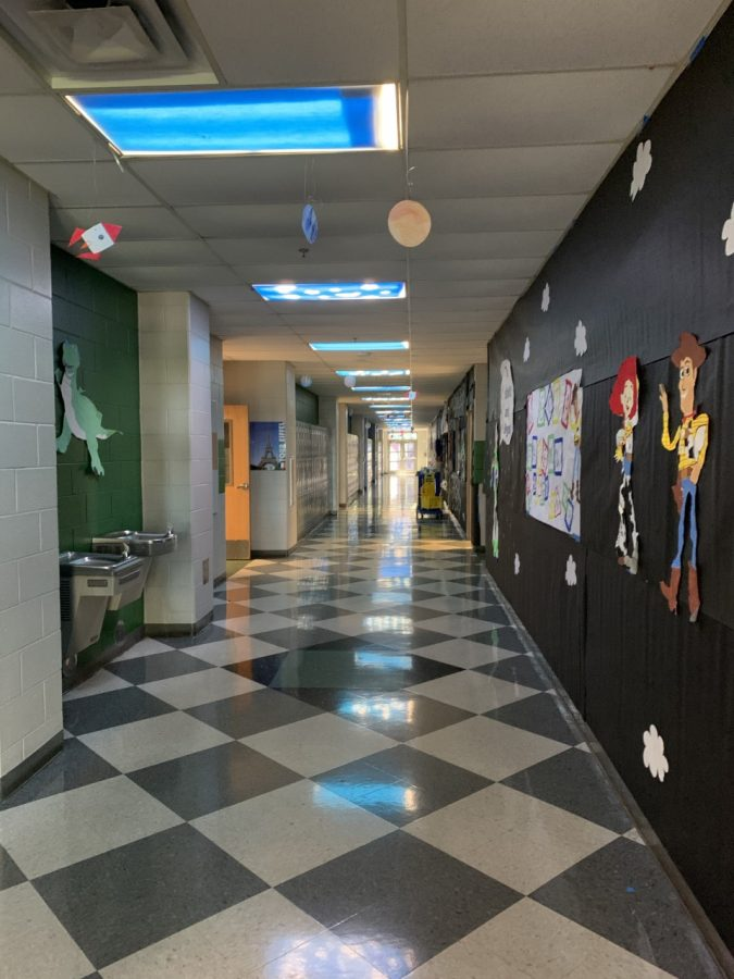 "The class of 2023 participated in the homecoming hallway decorations with their toy story themed hallway in downstairs building 6. The hallway ended up winning 3rd place. ""We drew and traced characters, painted the drawings, measured out space in the hallway, and prepared extra materials"" Lacarte said. ""It was truly a team effort""."