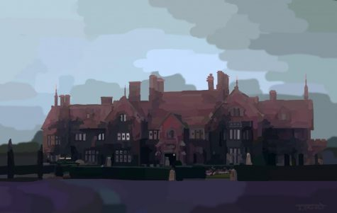 Drawing of the Manor where the show takes place.