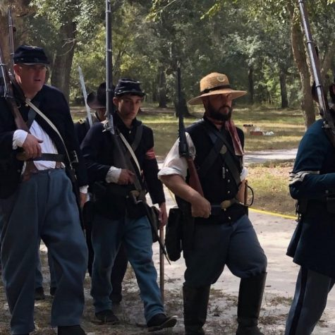 "Arwady gets ready to participate in a Civil War reenactment on Oct. 5, 2019. ""[My favorite war to reenact] is the Civil War because it's an important shift in our country's history,"" Arwady said."