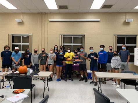 S.A.L.T. members smile for a photo during their October meeting. Together they built their leadership skills, and grew together.