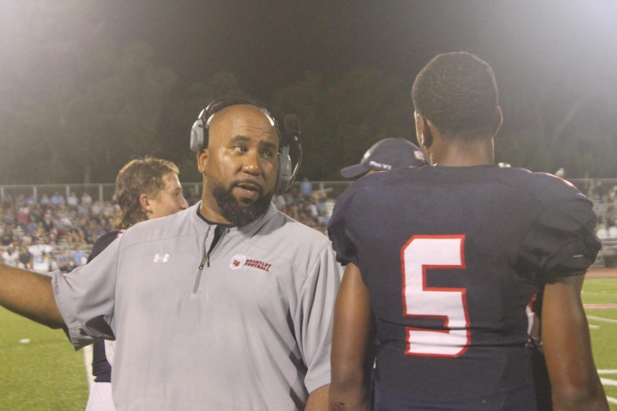The home football game on the night of August 27th was the varsity game against Hagerty High school. Coach Delfiacco spoke to junior Braxton Woodson to direct the game, the Patriots were declared the winners by the end of the end of the night.
