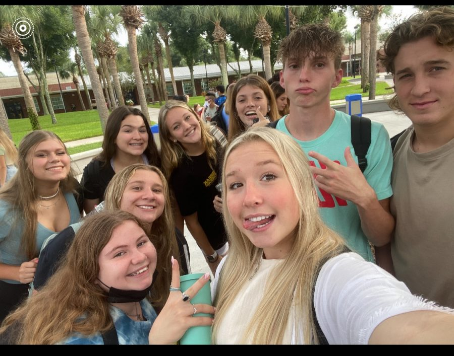 The SWAG club has multiple meeting spots and one of them is in the center of campus at the tree. Mondays at the break we pray for the school and the start of everyones week. We will read a verse and then pray, junior Brooke Adams said.