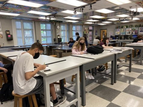 The NAHS meets every other Friday in room 7-105 after school. Students work on improving their artistic skills and working together in projects.