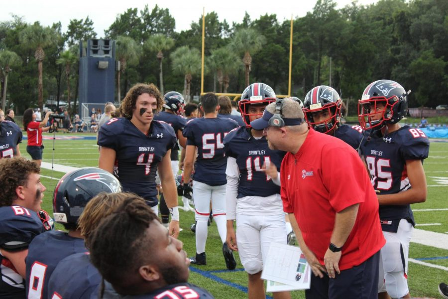 """Although the varsity football has significantly grown during the 2021 season due to the lack of a junior varsity team, the additional players seem to be benefiting the roster. On Friday, Aug. 27, the varsity football team beat Hagerty High School 36-27. Athletes, like sophomore Tavin Hebert, have felt the direct impacts of the additional players, as he has been on varsity since his freshman year. """"Im a starter,"""" Hebert said. """"I got my spot last year in spring as a freshman."""""""