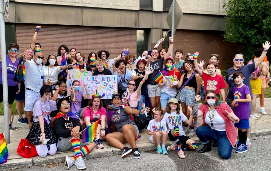 Members of the Gay Straight Alliance marched in the parade at Come Out with Pride 2021. Students, teachers, parents and community members gathered on Oct. 10 at Lake Eola Park.