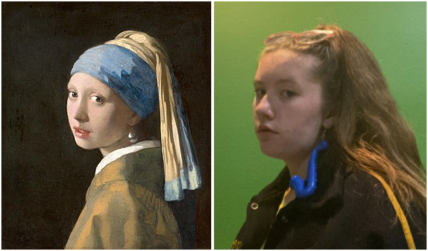 Girl with a Pearl Earring tribute